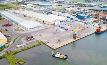 Work at a Port in Newport Begins
