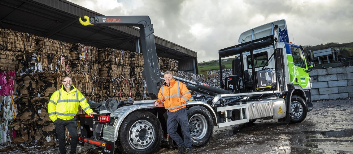 Sonoco Recycling Invests in Three New Hiab MULTILIFTs