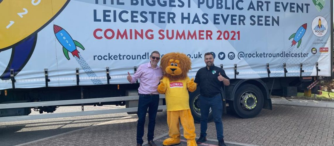 Trucklink Kicks off Rocket Round Leicester Charity Event with Bespoke Truck