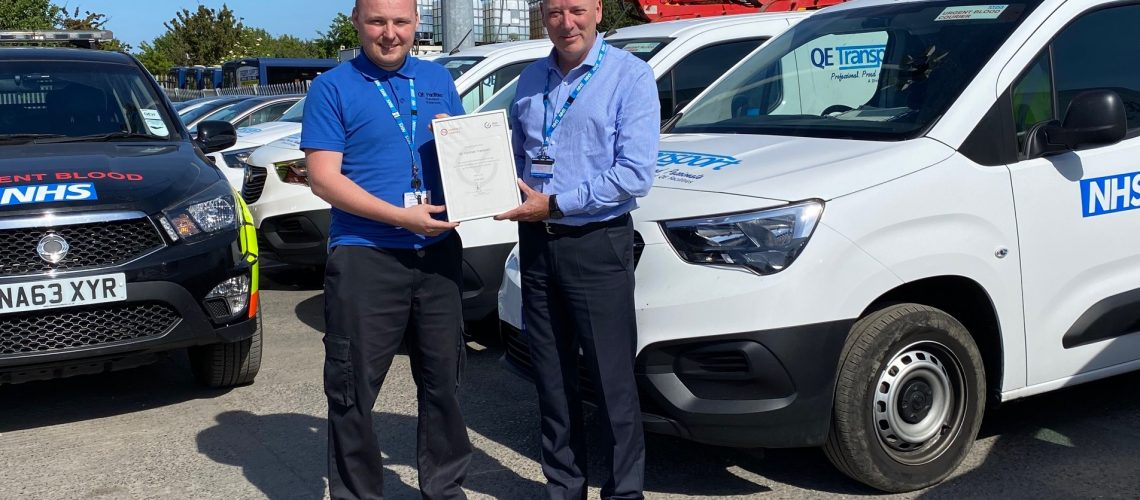 Transport Arm of NHS Foundation Trust Receives Remote Van Excellence Certification