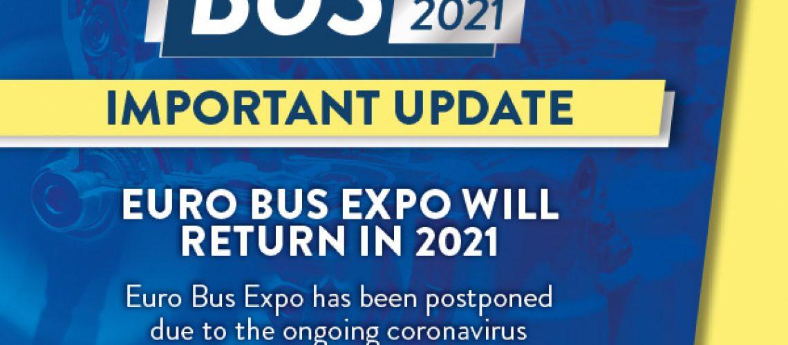 Euro Bus Expo Postponed Until 2021
